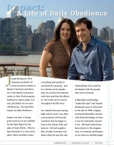 College Magazine Feature Article